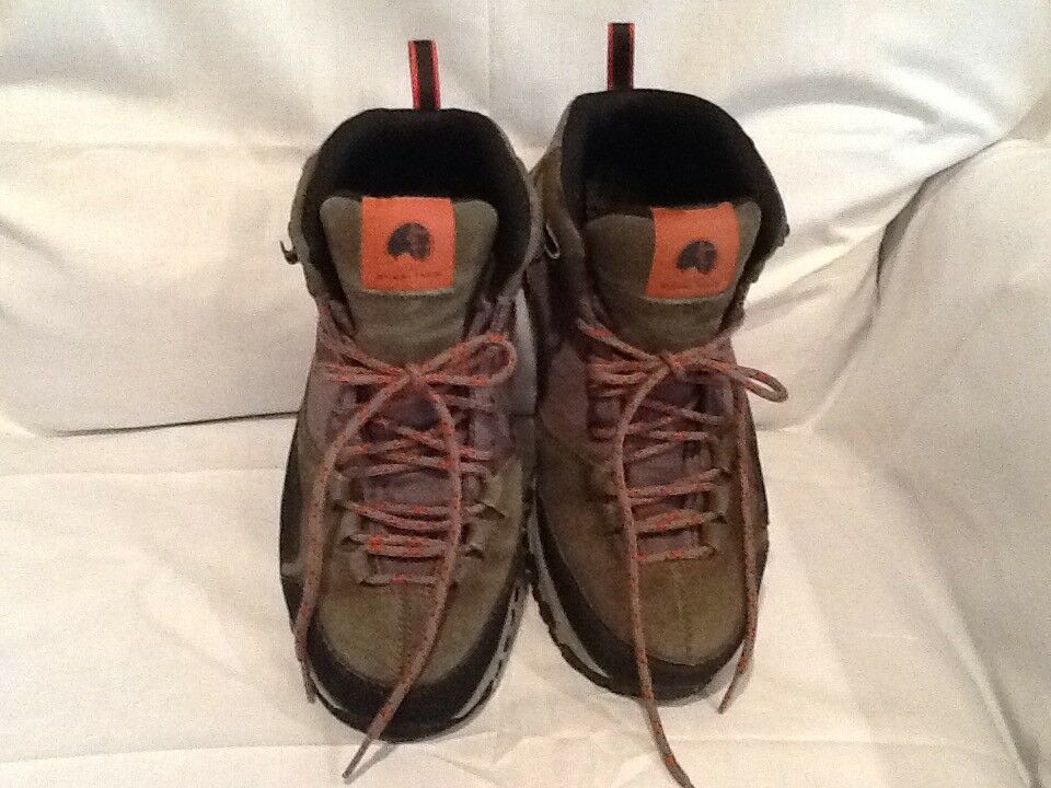 Mishmi Takin Event Waterproof Hiking Boot Moss Green orange Women's Size 9 EUC