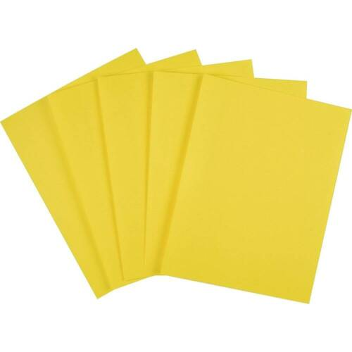 """Staples Brights Colored Paper 8 1//2/"""" x 11/"""" Yellow Ream 500//Ream 490954"""