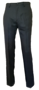Men-s-Ex-Store-Collection-Flat-Front-Charcoal-Formal-Suit-Trousers-W38-034-L31-034