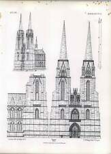 Gothic Marburg St Elizabeth West Facade North Side Of Nave