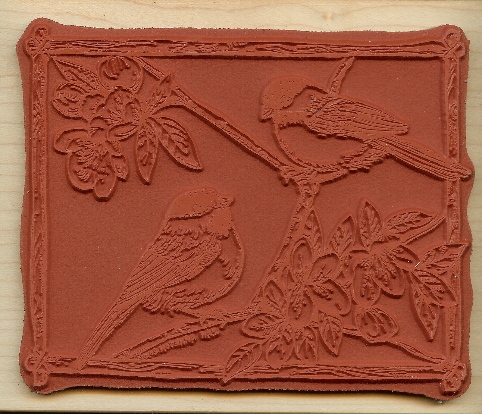Bittersweet Basket Blossom Wood Mounted Rubber Stamp Northwoods Stamp P8683 New