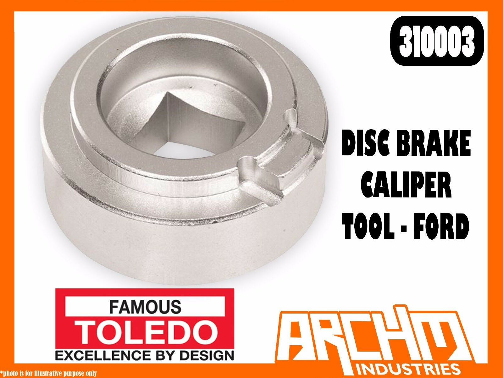 TOLEDO 310003 - DISC BRAKE CALIPER TOOL FORD - REMOVAL INSTALL RESTING POSITION