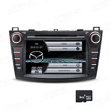 """For Mazda 3 2010 2011 2012 2013 8"""" 2DIN Car DVD Player GPS Sat Navi Stereo Radio"""