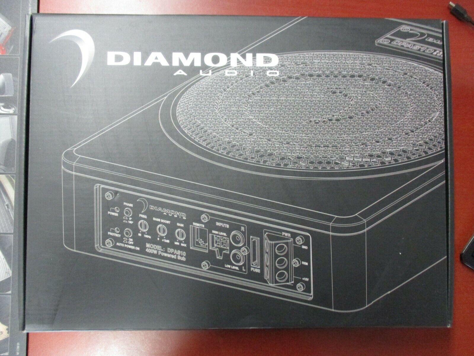 Diamond Audio DE102 10 400W RMS Diamond Elite Series Dual 2 Ohm Car Subwoofer Free LAB Sticker
