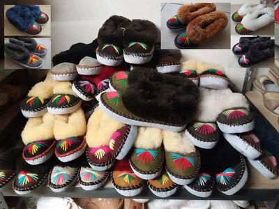 -NEU Gr.36-42  WARM 1 Paar Filz-Schafwolle Hausschuhe-Pantoffeln,Latschen