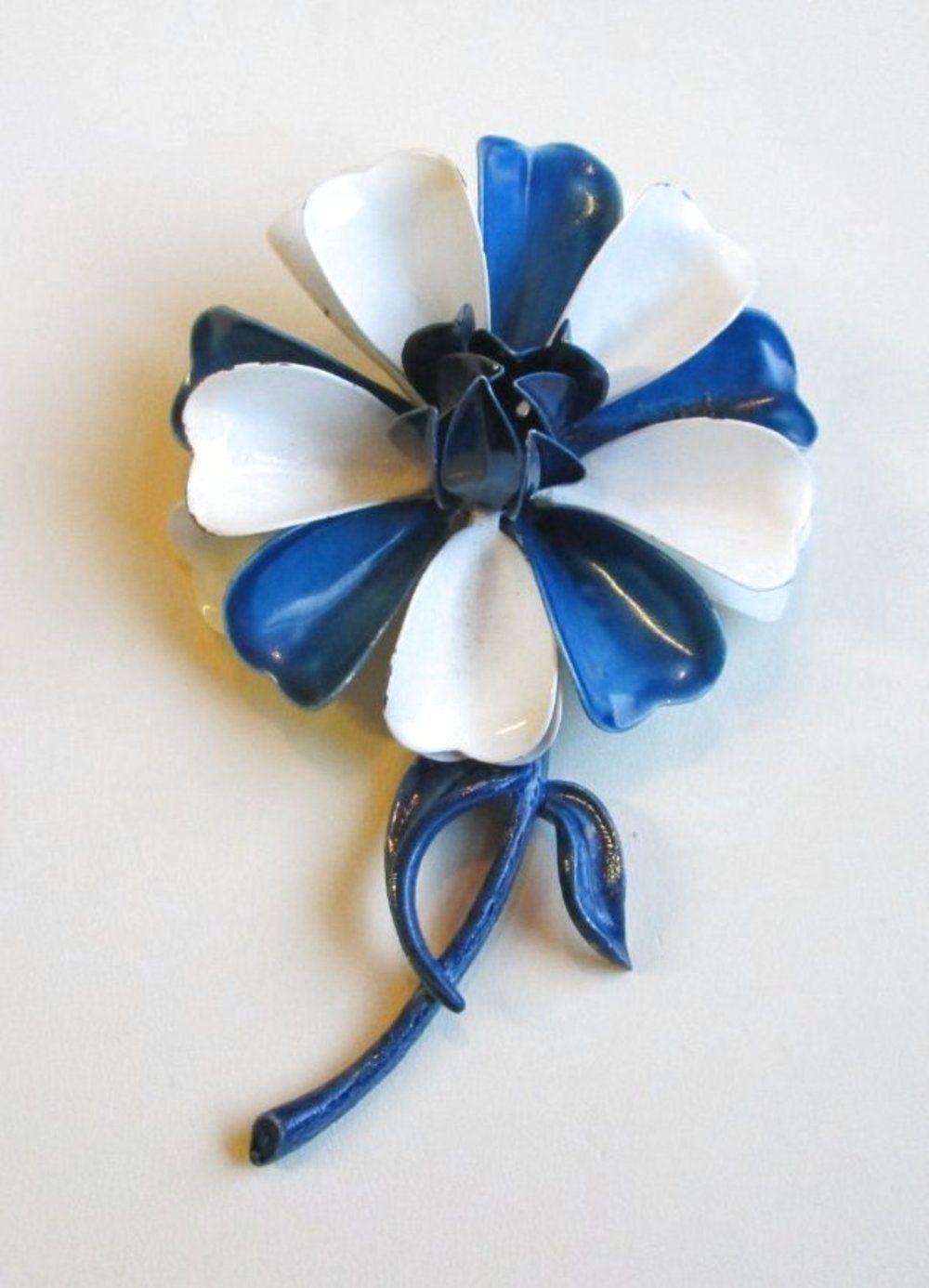VINTAGE Art Nouveau Style Poppy Pansy Daisy Wild … - image 1