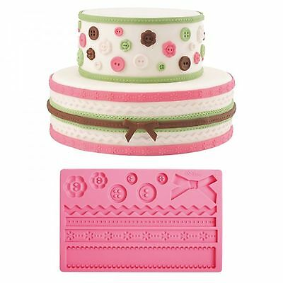 "Patisse:cake design fondant mold /""Global design/"" stampo silicone"