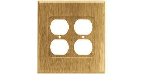 Wood Double Duplex Outlet Wall Plate Unfinished Brainerd 64649 Ebay
