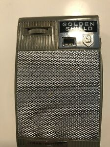 Vintage Golden Shield 6 Transistor Radio Model 7010 w/ Case