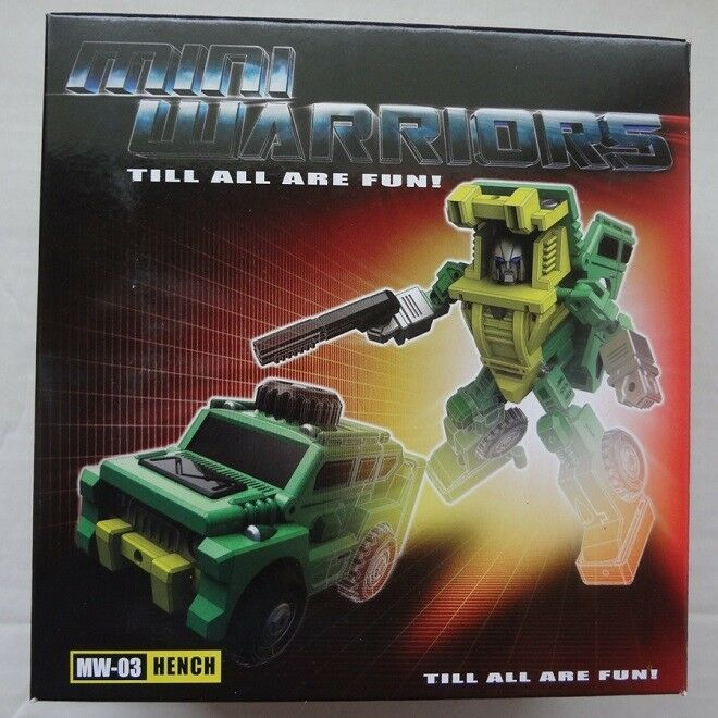 TRANSFORMERS IGEAR MINI WARRIORS MW-03C HENCH MIB G1 BRAWN MASTERPIECE SCALE