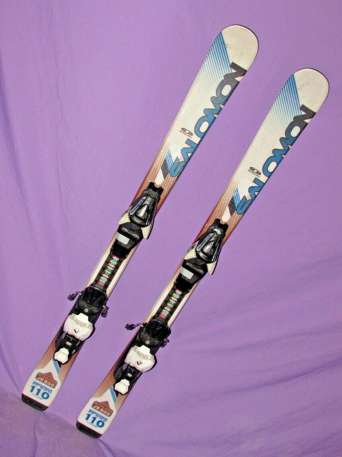 Salomom Enduro 800 Jr kid's skis 110cm w  Salomon L7 DEMO adjustable bindings