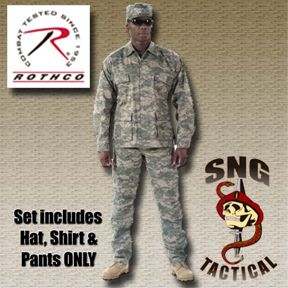 Ultra Force BDU SET  ACU Camo Shirt, Pants & Cap