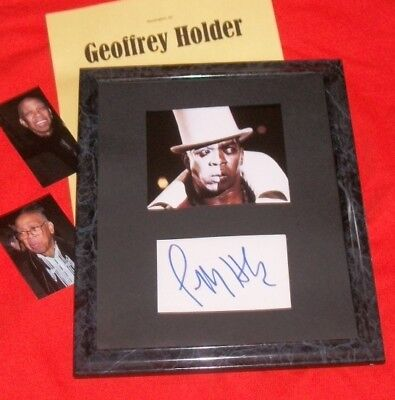 Entertainment Memorabilia Photographs Geoffrey Holder /bond/autogcard&photoframed&photos-hot Strengthening Waist And Sinews