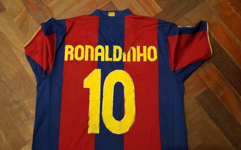 Maglia shirt  Barcellona    Liga Ronaldinho Camp nou 50 anos 2007 88a1cd