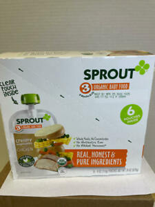Sprout Organic Baby Food, Stage 3, Creamy Vegetables w Chicken, Best by 4/22