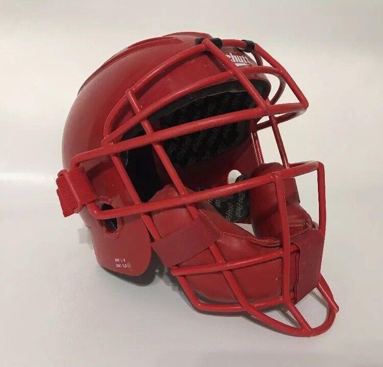 Schutt 2962 Air Pro Large Catcher's Helmet Mask Baseball Red