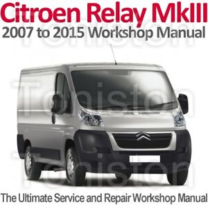citroen relay jumper mk3 2007 to 2015 workshop service and repair rh ebay co uk citroen jumper 3 service manual citroen jumper 2008 service manual