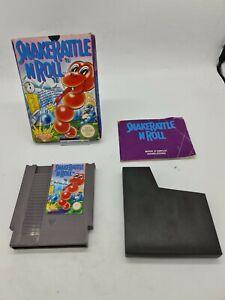 RARE Nintendo Super NES 8-BIT SNAKE RATTLE N ROLL NES-RJ-FRA Boxed Boite OVP