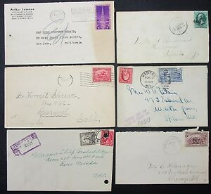 US-Postage-Set-of-6-Covers-Envelopes-Golden-Gate-Exposition-USA-Letters-Y-188