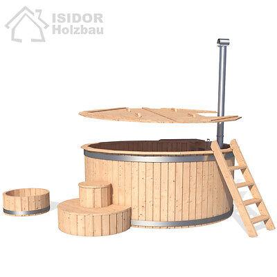 ISIDOR Badezuber Badefass Badetonne Badebottich Whirlpool Outdoor Hot Tub Sauna