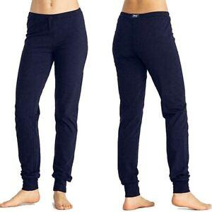 EVERLAST-pantalone-da-donna-taglia-M-sport-stretch-in-jersey-joggers-blu-polsino