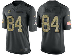 online store 5c957 0a902 Details about Pittsburgh Steelers Antonio Brown Nike YOUTH 2016 Salute to  Service Jersey Small