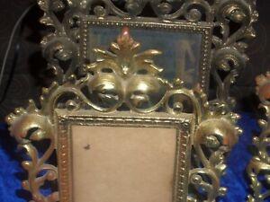 Antique Victorian art nouveaux Gilded picture frame CAST Bronze