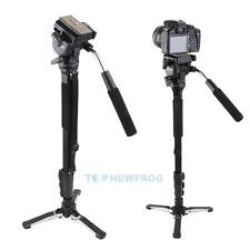 Yunteng C288 Tripod Pro Monopod + Fluid Pan Head + Unipod Holder for DSLR Camera