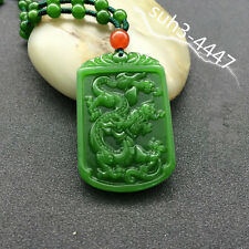 Natural Jade Dragon Phoenix Necklace Pendant Lucky Amulet Fashion Jewelry Hot