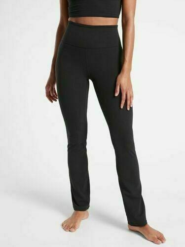 ATHLETA Elation Straight Leg Pant M TALL MT Black YOGA Workout #981680