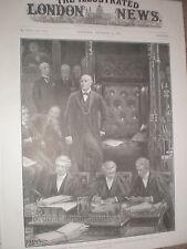 CASA del Parlamento ri-ELEZIONE DI Altoparlante MR Gully 1900 Old print