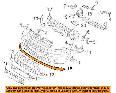 Front Genuine Kia 86525-2K000 Bumper Lip