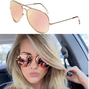 c43de7237f Image is loading XL-Oversized-Rose-Gold-Women-Sunglasses-Aviator-Mirrored-