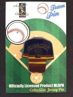 WohltäTig Houston Astros Alex Bregman Revers Pin-one Eines Kind-stroh's Nation Bestseller Taille Und Sehnen StäRken Sport