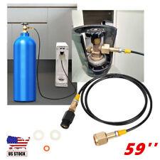 Soda maker Machine Adapter to CGA 320 Bulk Co2 Tank Coil Hose Direct Line.