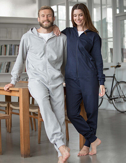 Natural Jumpsuit Overall Unisex Bio Baumwolle Jogging Trainingsanzug XS-3XL