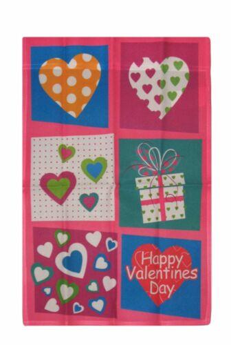 "12x18 Happy Valentine/'s Valentines Day Box Hearts Sleeved Garden 12/""x18/"" Flag"