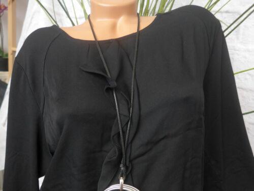 441 Via Tuscolana Shirt Tunique Femmes Grandes Tailles Noir Volant Grande Taille
