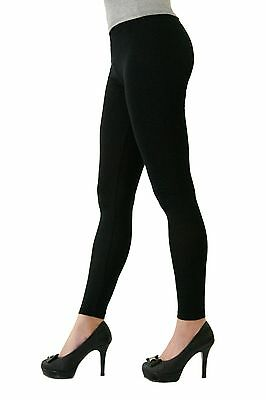 Stretch Cotton Full Length Long Leggings - Juniors Sizing