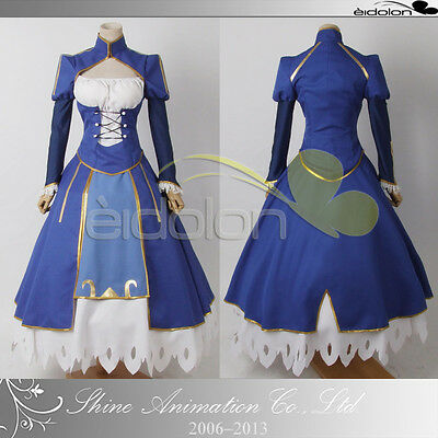 EE0038AD Fate Stay night Saber blue cosplay costume