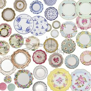 Piatti Stile Shabby Chic.Luxury Paper Plates Shabby Chic Vintage Style For Afternoon Tea