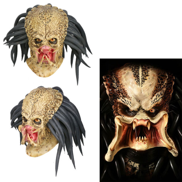Predator Cosplay Mask Costume Helmet Props Antenna Halloween Party Horror Xcoser  sc 1 st  eBay & Predator Cosplay Mask Costume Helmet Props Antenna Halloween Party ...