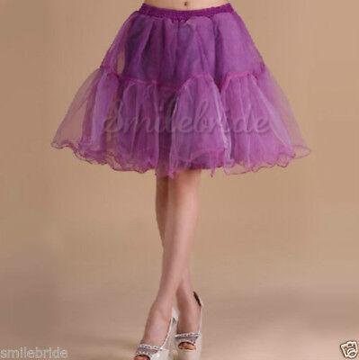 """Hot Tulle Skirt 20/"""" knee length Crinoline Petticoat Tutu Dancewear Skirt Slip"""