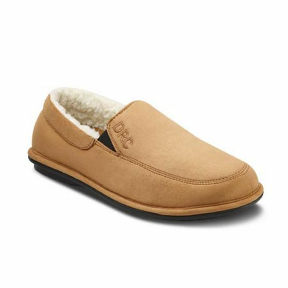 DR. COMFORT MENS DIABETIC RELAX SLIPPERS 5220-W-07.0 CAMEL SIZES 7 & 8