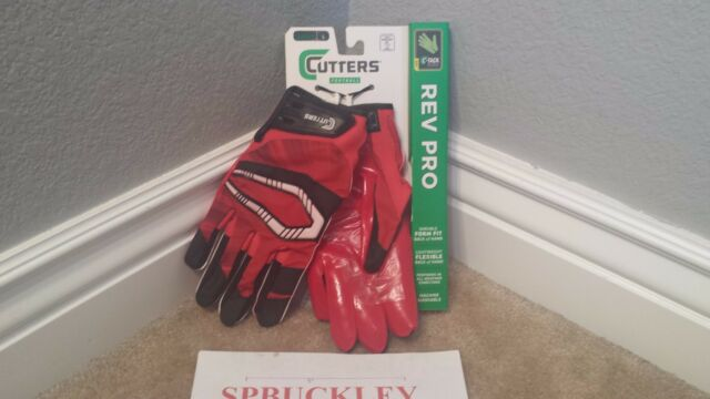 Cutters S450 Rev Pro Red And Black Adult Xl Football Gloves Ebay
