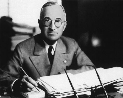 1945 33rd US President HARRY S TRUMAN Glossy 8x10 Photo Political Print Poster