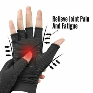 Copper-Compression-Gloves-Arthritis-Fit-Carpal-Tunnel-Hand-Wrist-Brace-Support
