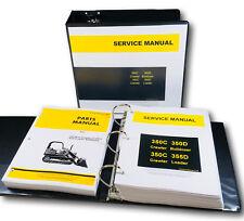 Service Parts Manual Set John Deere 350c 350d 355d Crawler Bulldozer Loader Shop