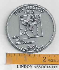 Like New Vintage Sterling Silver Map of New Mexico Land of Enchantment Souvenir Charm