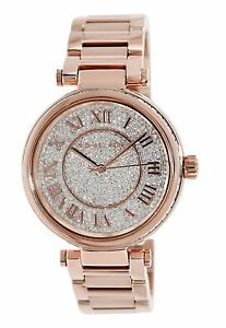 53b287b79667 100% New Authentic Michael Kors Skylar Crystals Dial Lady Rose Gold ...